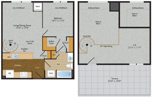3 Tree Flats 1 Bedroom Floor Plan