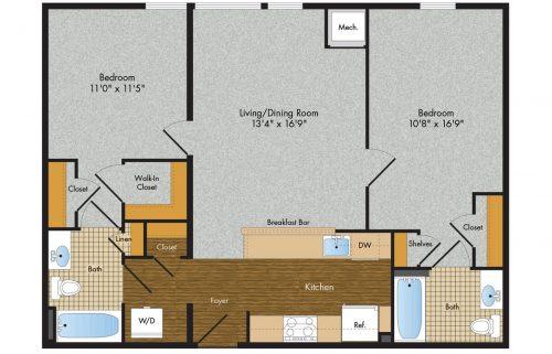 3 Tree Flats 2 Bedroom Floor Plan