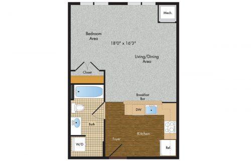 3 Tree Flats Studio Floor Plan